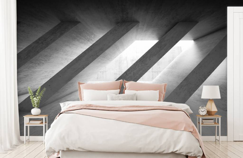 Other Textures & Surfaces - Concrete pillars in 3D - Bedroom 2