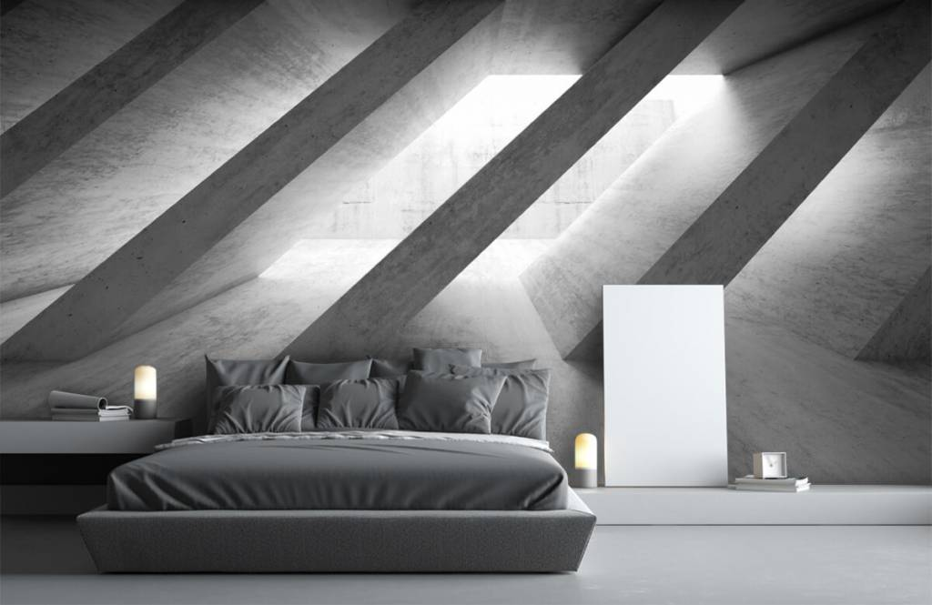 Other Textures & Surfaces - Concrete pillars in 3D - Bedroom 3