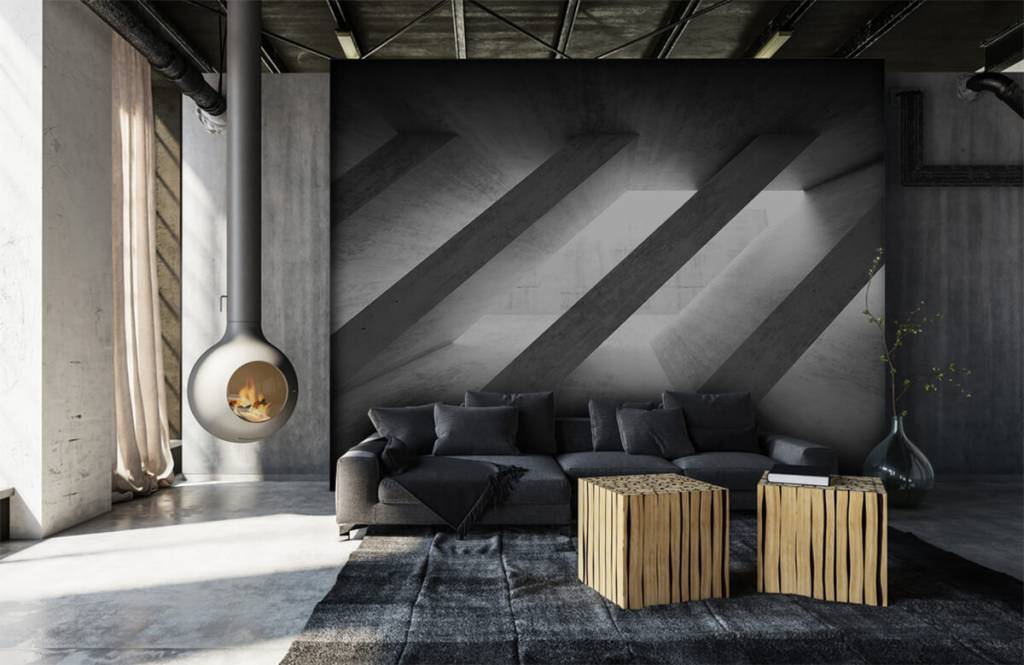Other Textures & Surfaces - Concrete pillars in 3D - Bedroom 7