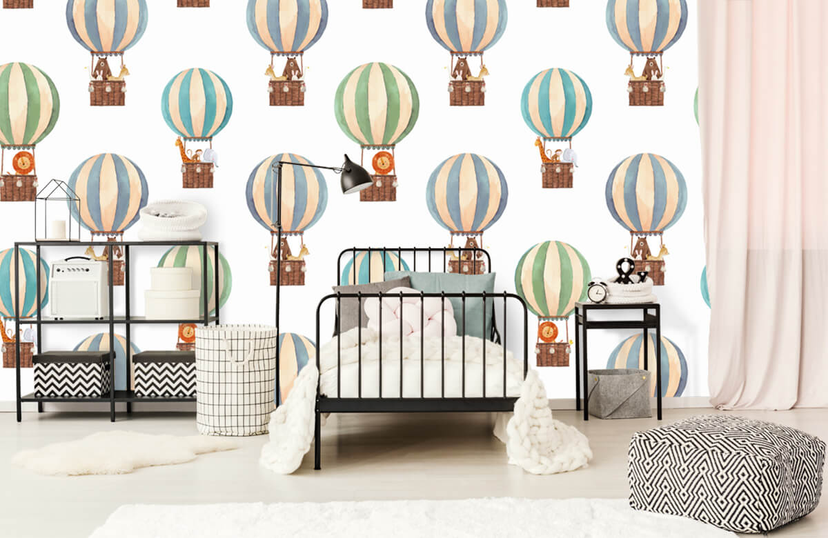 Other - Hot-air balloons made of water paints - Baby room 2