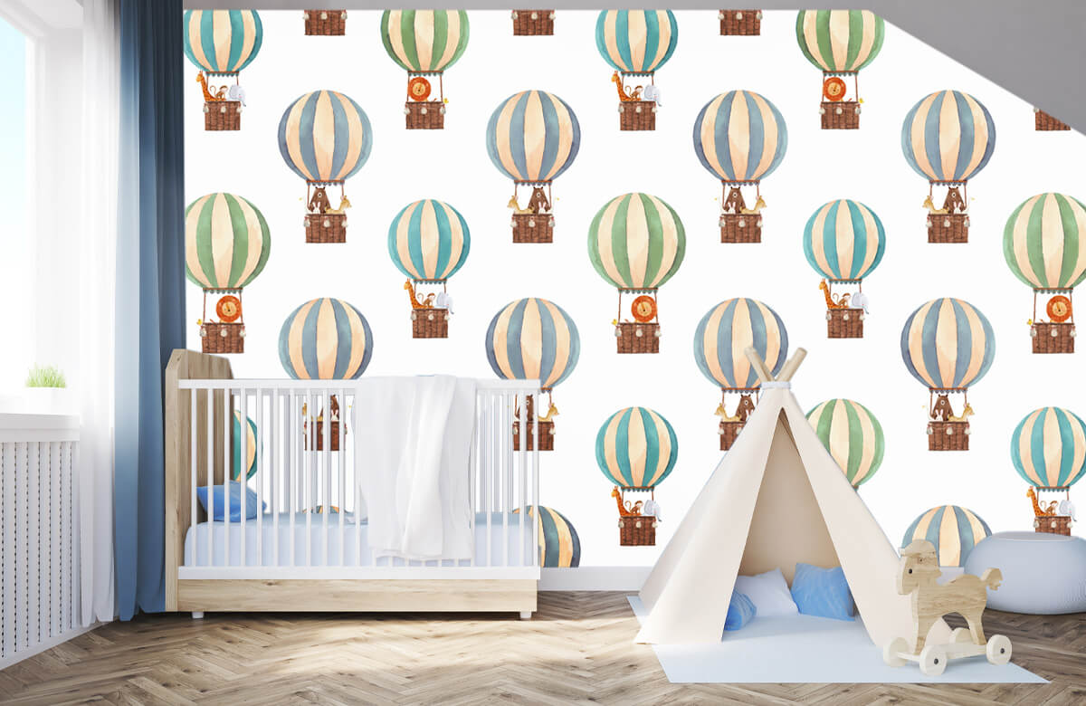 Other - Hot-air balloons made of water paints - Baby room 3