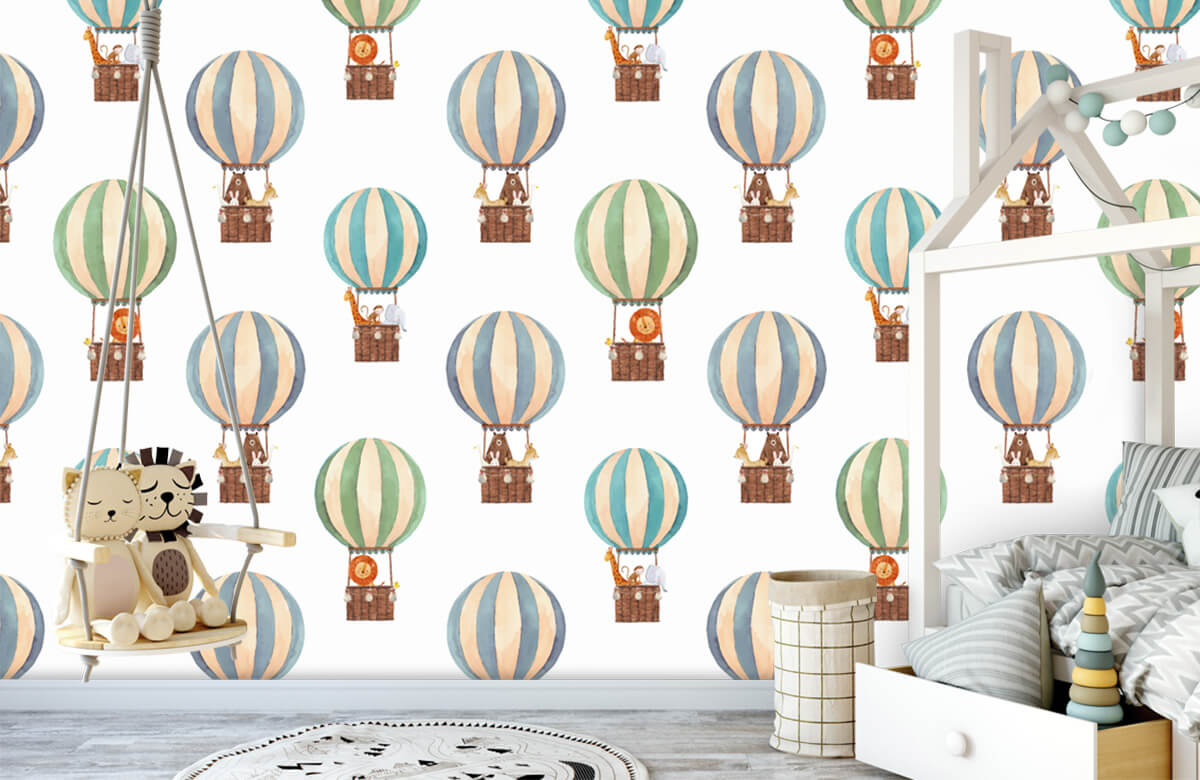 Other - Hot-air balloons made of water paints - Baby room 1
