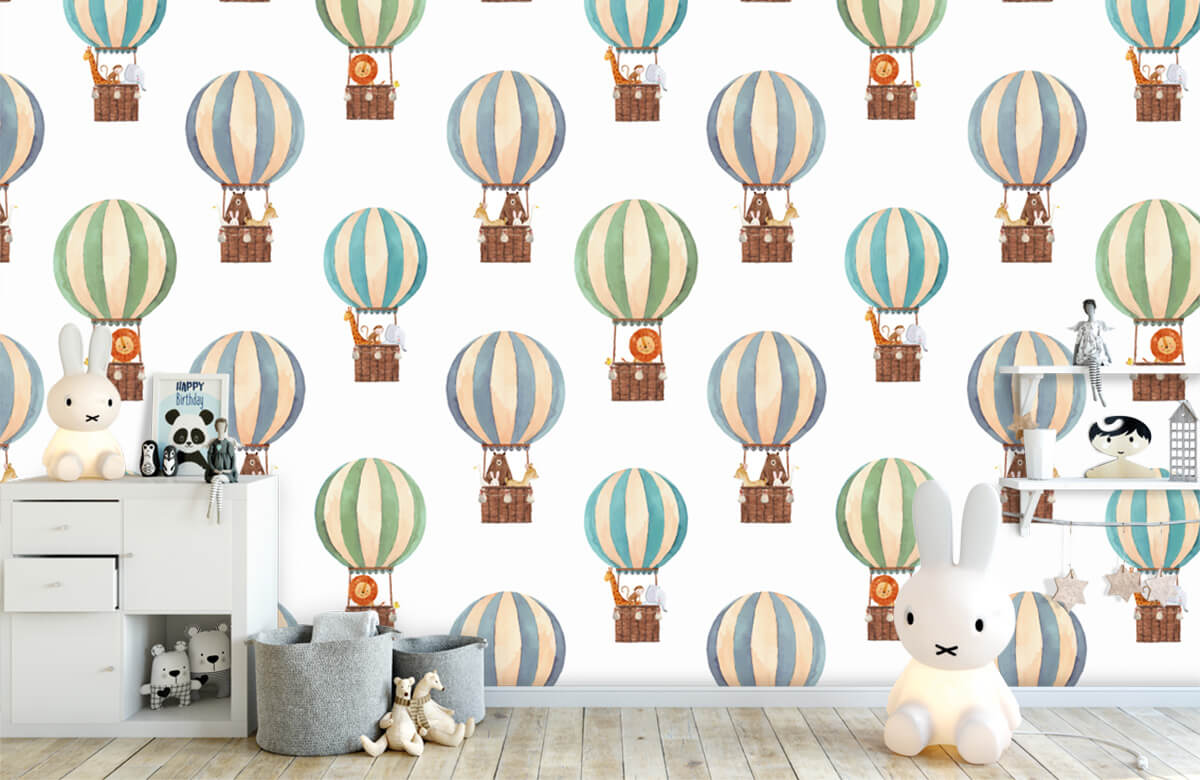 Other - Hot-air balloons made of water paints - Baby room 4