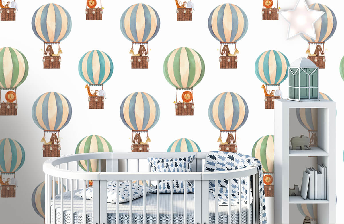 Other - Hot-air balloons made of water paints - Baby room 5