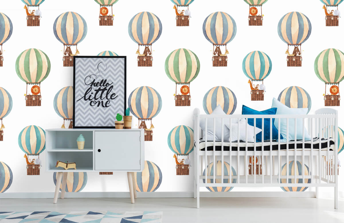 Other - Hot-air balloons made of water paints - Baby room 6