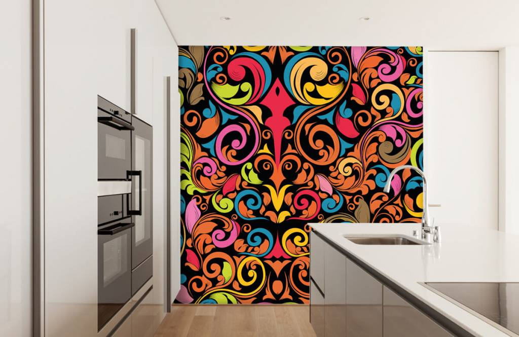 Abstract - Abstract colored figures - Kitchen 4