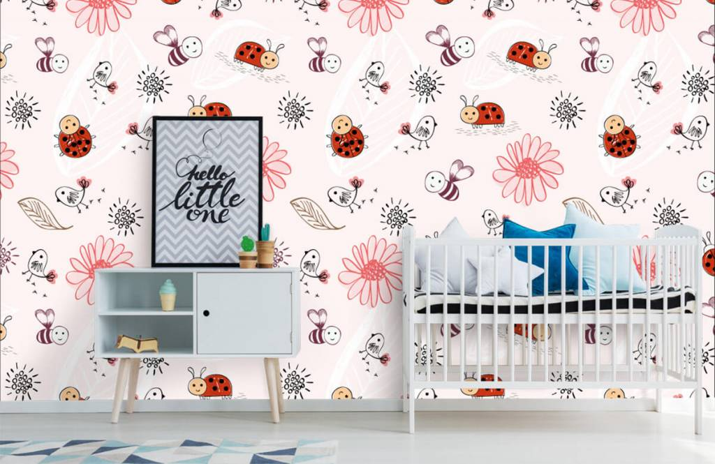 Baby wallpaper - Flowers and bees - Baby room 7