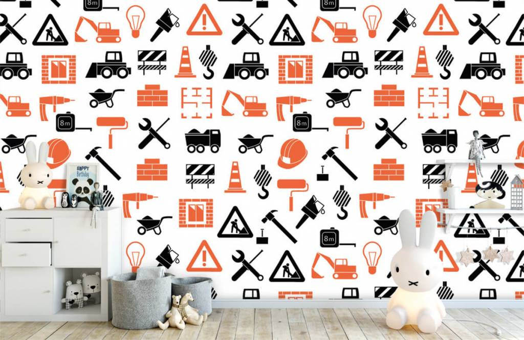 Other - Construction vehicles and building materials - Children's room 1