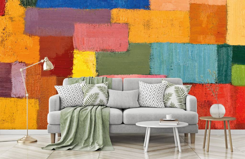 Abstract - Colorful surface distribution - Living room 7