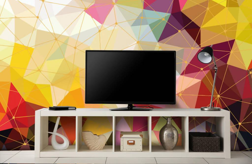 Other - Print of colorful triangles - Bedroom 7
