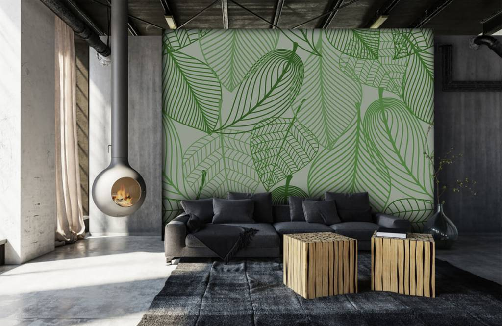 Other - Green leaves drawn - Bedroom 1