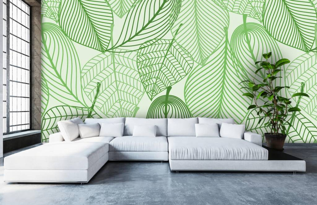 Other - Green leaves drawn - Bedroom 2