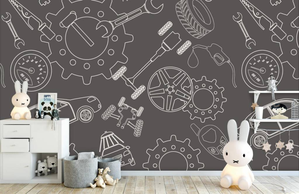 Other - Gears, rims and cars - Children's room 4