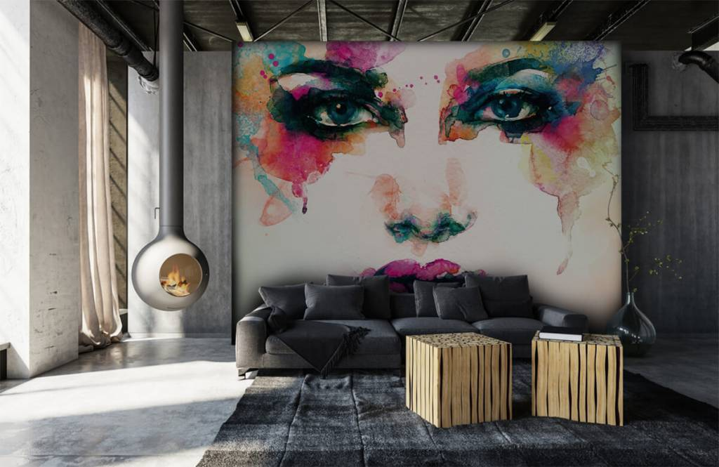 Portets and faces - Abstract head - Living room 4
