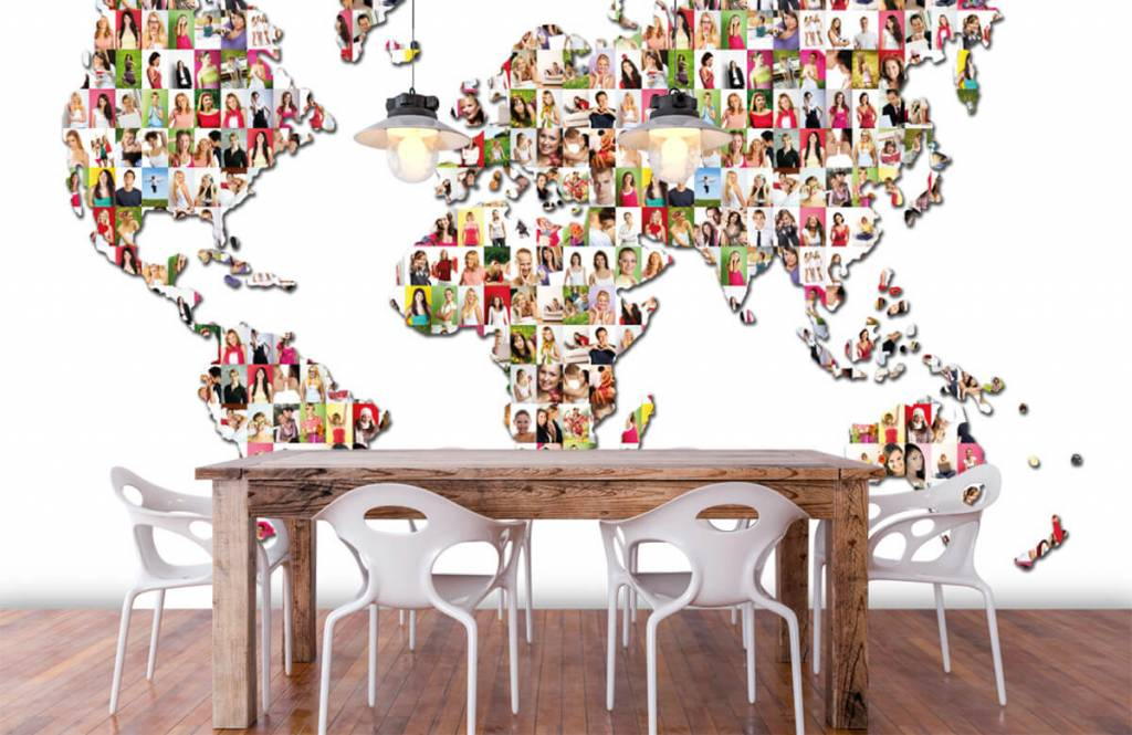 World map wallpaper - World map formed from photos - Reception 6