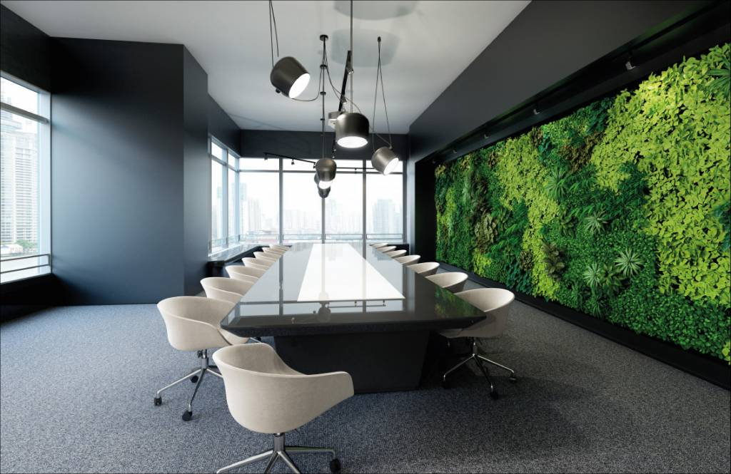 Meeting room wallpaper